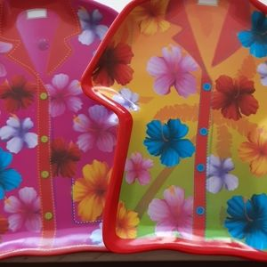 Colorful diecut trays.